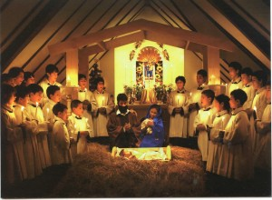 Our choir, Cor Videns, in the chapel at Casa Walsingham