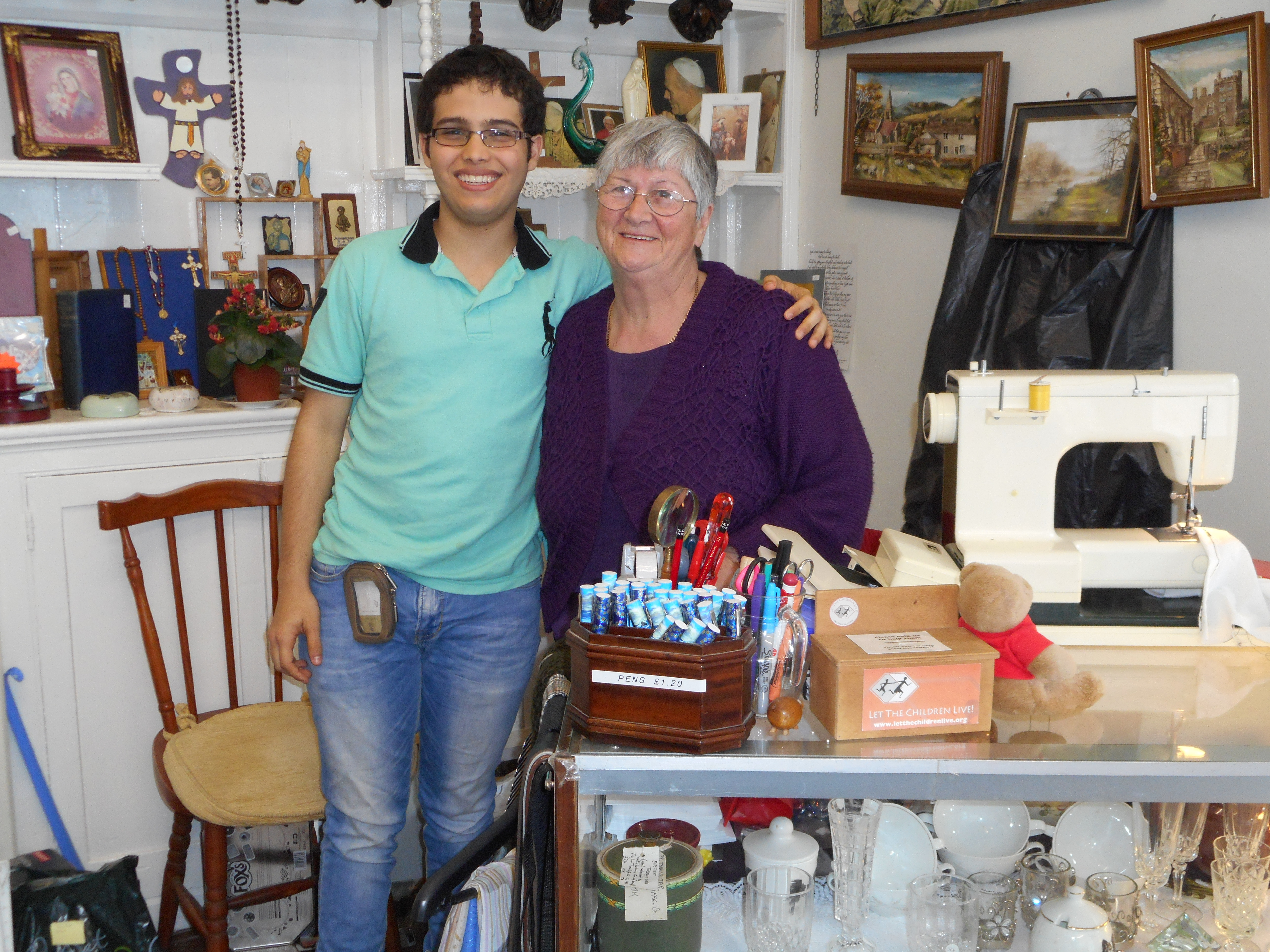 With Jackie Seals, our shop manager in Walsingham