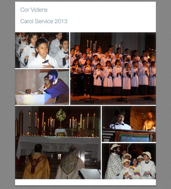 Photos from Carol Service